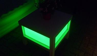 Verlichte lounge salontafel