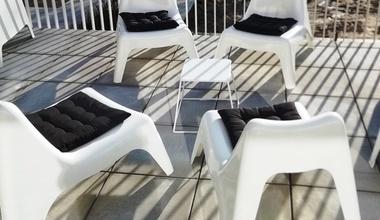 Loungehuren.be - Lounge fauteuil (zonder armleuning) met kussentje