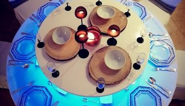 verlicht tafelopzetstuk