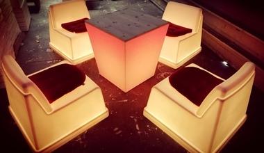 lounge verlichte meubilair huren