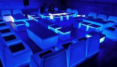 Verlichte lounge corner