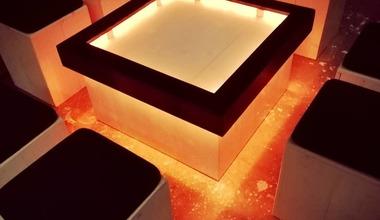 verlichte salontafel